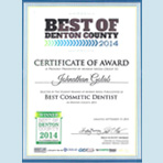 Best of Denton County Cosmetic Dentist 2014